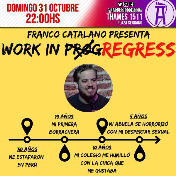 Franco Catalano en Taburete Comedia