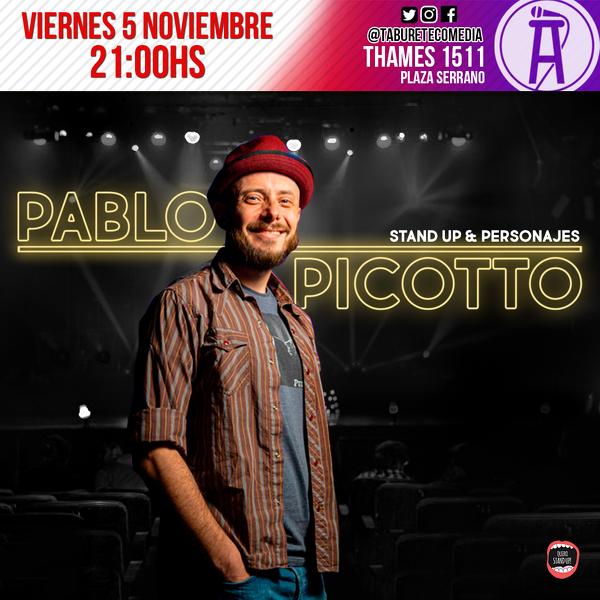 Pablo Picotto en Taburete Comedia